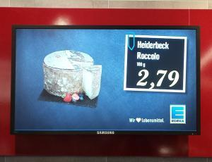 Digital Signage EDEKA-Filiale