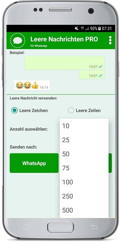 Leere Nachrichten PRO für WhatsApp