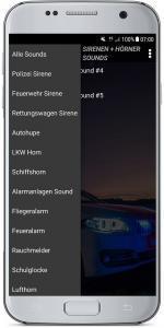 Sirenen + Hörner Sounds Screenshot 2