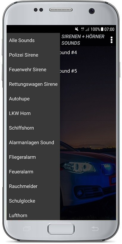 Sirenen + Hörner Sounds Screenshot 2