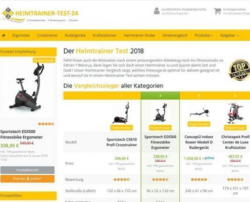 Startseite von Heimtrainer Test 24