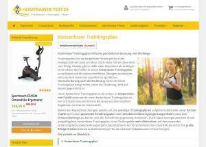 Trainingsplan von Heimtrainer Test 24