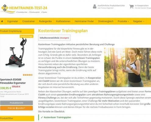 Trainingsplan von Heimtrainer Test 24