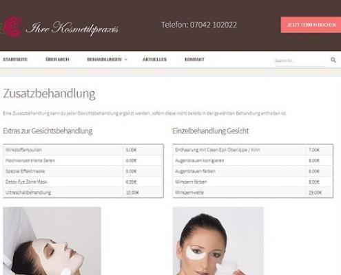 Zusatzbehandlungen von Ihre Kosmetikpraxis