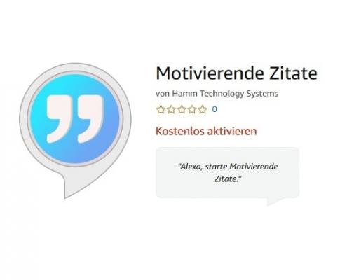 Alexa Skill Motivierende Zitate