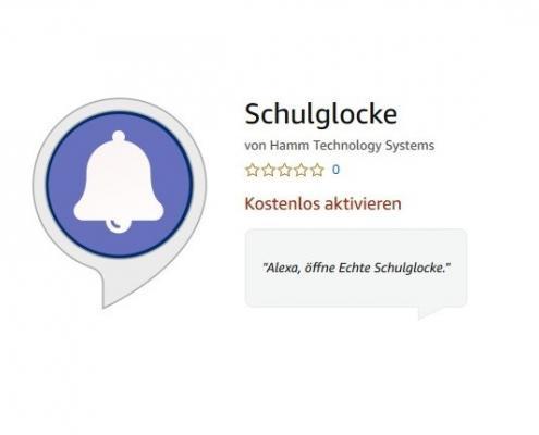 Alexa Skill Schulglocke
